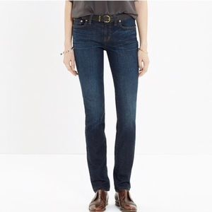 Madewell Alley Straight Skinny Leg Jeans Waterfall